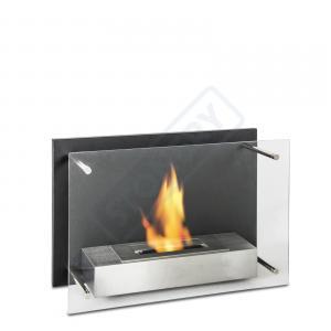 Caminetto da parete con bruciatore da lt. 1.5