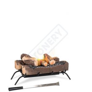 Braciere da tavolo con 2 bruciatori da lt. 0.4