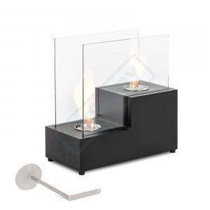 Caminetto da tavolo con 2 bruciatori da lt. 0.4